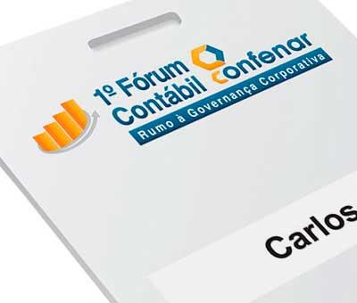 Cracha Fórum Contábil Confenar