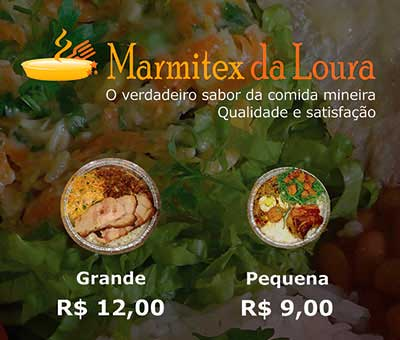Flyer Marmitex da Loura