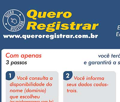 Flyer Quero Registrar
