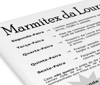 Panfleto Marmitex da Loura
