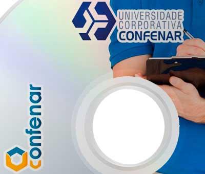 Rótulos DVDS Treinamentos Universidade Corporativa Confenar