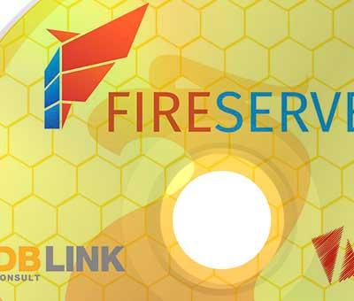Rótulo DVD Fireserver DBLink Consult